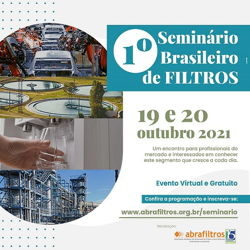1° Seminário Brasileiro de Filtros será online nos dias 19 e 20 de outubro
